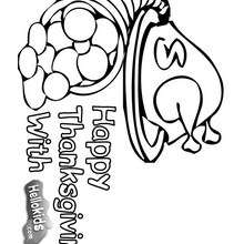 Dia de Ação de Graças, Desenho de uma cornucópia para o dia da ação de graças