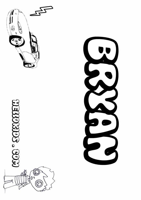 Desenhos Para Colorir De Bryan Pt Hellokids Com