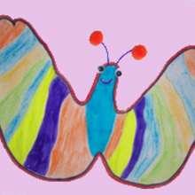 Como desenhar uma borboleta com sua mão