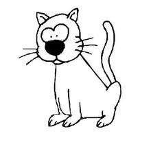 Desenho de um gatinho engraçado para colorir