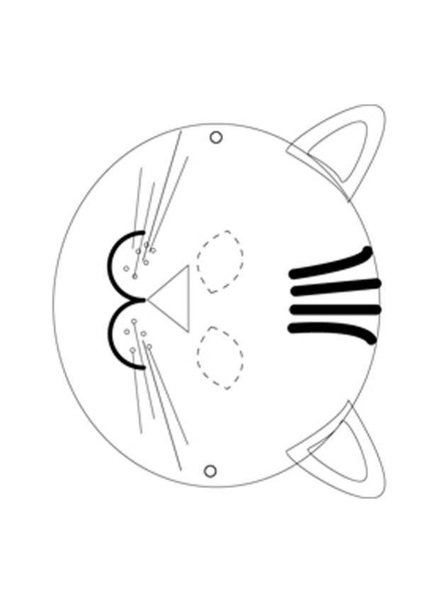 Máscara de um gatinho