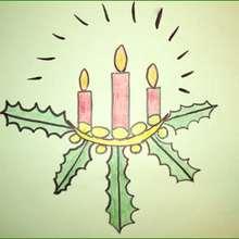 Como desenhar uma Vela de Natal