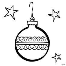 Desenho de uma linda bola de Natal para colorir