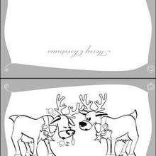 Cartão de Natal com Renas