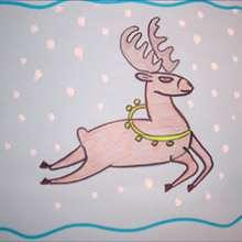 Como desenhar uma Rena de Natal