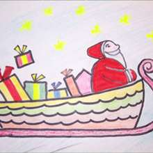 Como desenhar o trenó do Papai Noel
