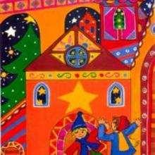 Desenho de crianças dançando no Natal