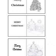 Etiquetas com árvore de natal para os presentes de Natal