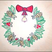 Como desenhar uma Coroa de Natal