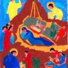 Ilustração do Jesus no berço