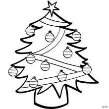 Desenho de uma linda árvore de Natal  para colorir