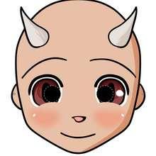Máscara de diabo para o Halloween