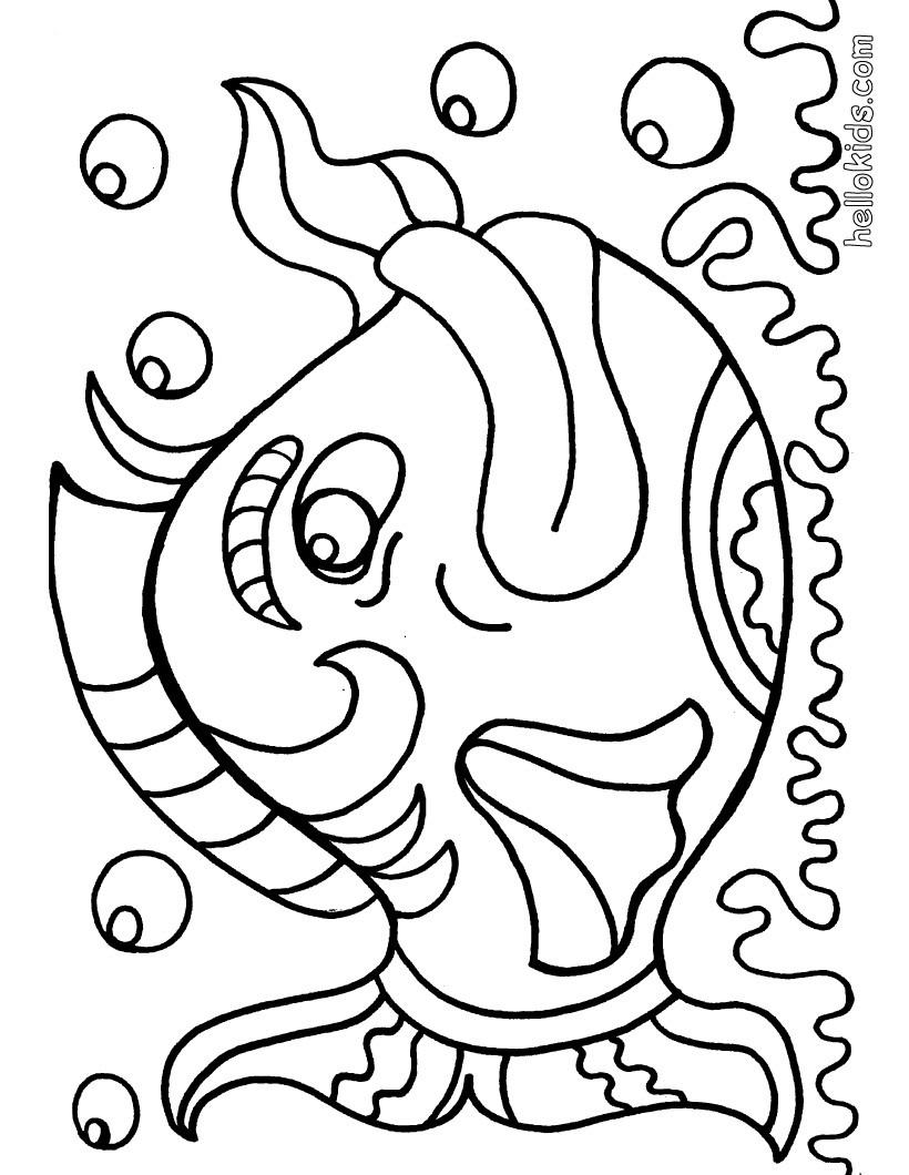 Desenhos Para Colorir De Desenho De Um Peix 227 O Para Colorir