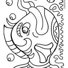 Desenho de um Peixão para colorir