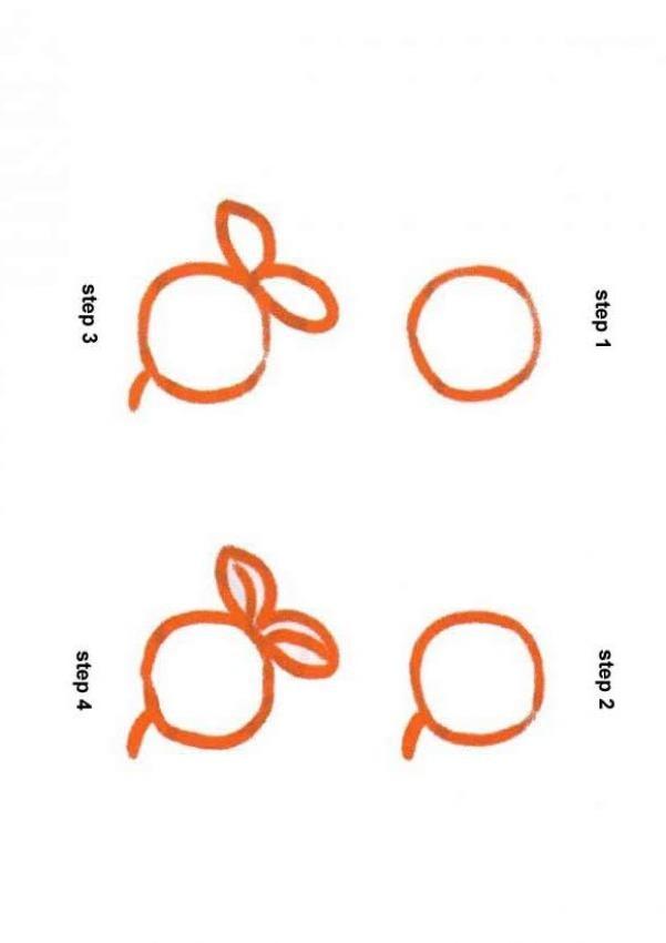 Como desenhar uma fruta