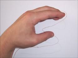 Como desenhar uma girafa com a sua mão