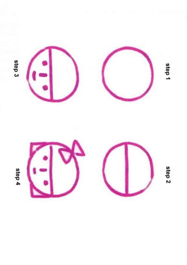 Como desenhar uma cara de menina