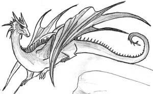 Desenho de um dragão do Dia das Bruxas
