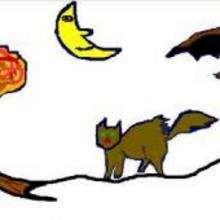 morcego, Desenho do Dia das Bruxas