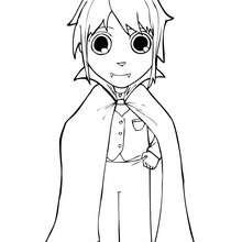 Desenho do Matias fantasiado de Drácula para colorir online