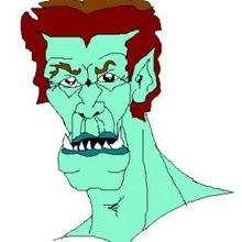 Desenho de um monstro verde do dia das bruxas