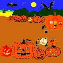 Desenho de abóboras do Dia das Bruxas