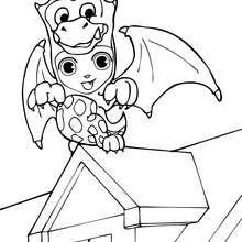 Desenho do Teo fantasiado de Dragão para colorir