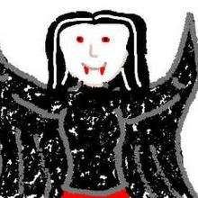 Dia das Bruxas, Desenho de um vampiro