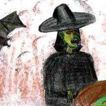 brucha, Bruxa e morcego