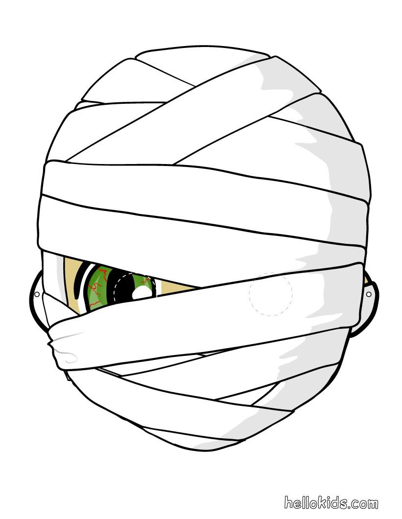 Máscara de uma Múmia para o Dia das Bruxas