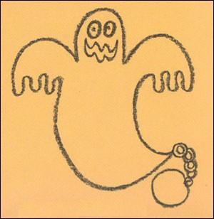 Como desenhar um fantasma do Dia das Bruxas
