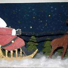 Rena, Linda foto do Papai Noel com seu trenó