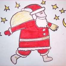 Como desenhar o Papai Noel com presentes