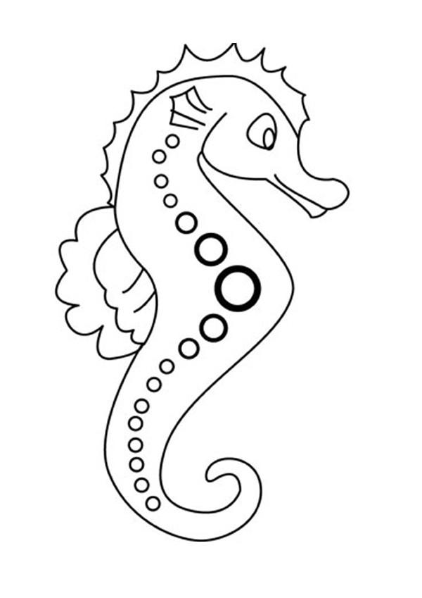 Desenhos Para Colorir De Desenho De Um Cavalo Marinho Para Colorir