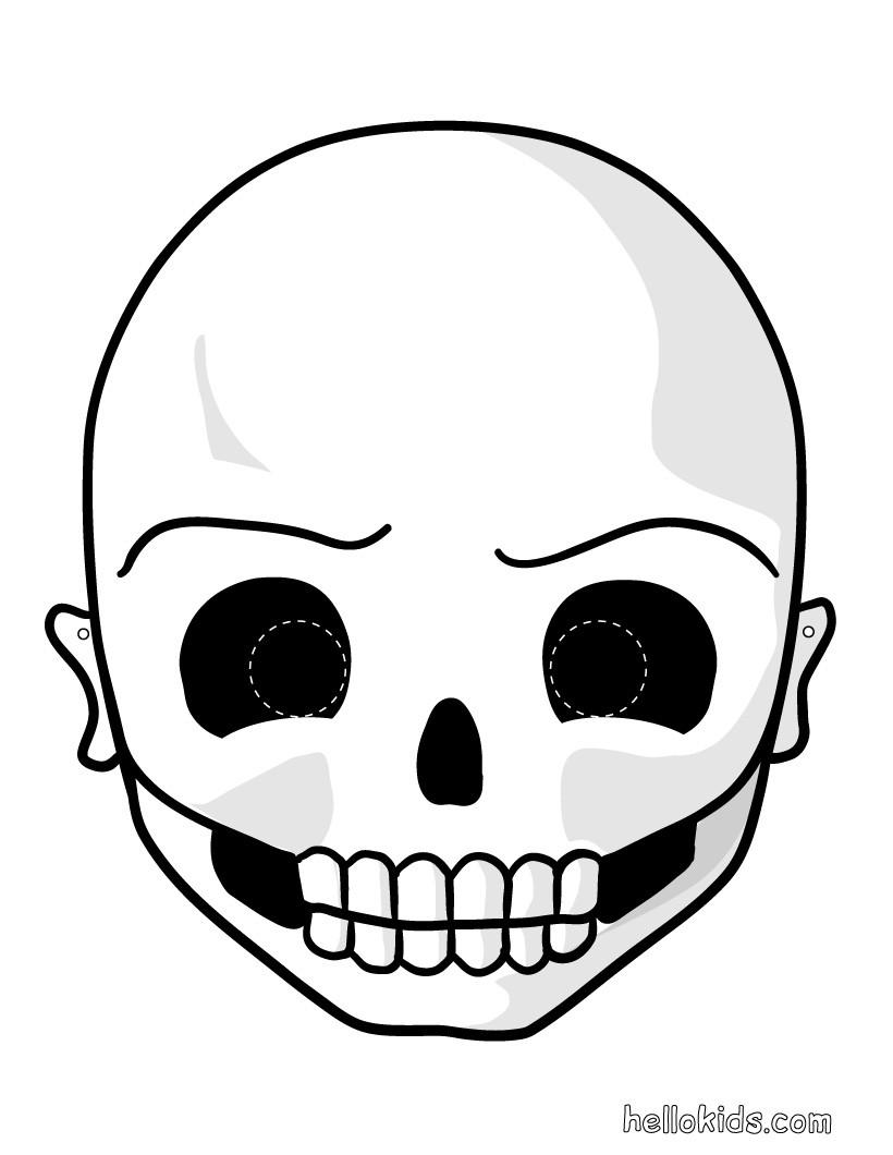 Máscara de um Esqueleto para o Dia das Bruxas
