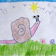 Como desenhar um Caracól com sua mão