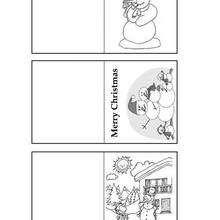 Etiquetas com um boneco de neve para os presentes de Natal