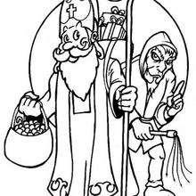 Desenho do São Nicolau de Mira para colorir