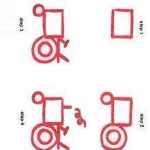 Como desenhar um trator