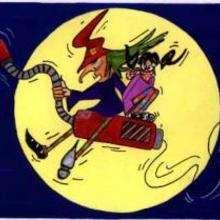 Dia das Bruxas, Bruxa na vassoura