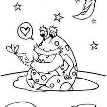 Desenho de um extra-terrestre para colorir