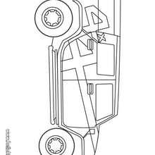 Desenho de um carro de aventureiro para colorir