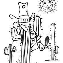 Desenho de um Cactus para colorir