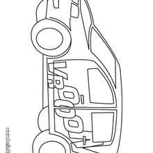 Desenho de um carro grande para colorir