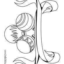 Desenho de bolas de Natal para colorir de graça