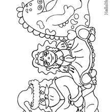 Desenho de presentes de natal para colorir