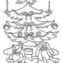 Enfeites de natal e presentes para pintar