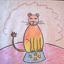 Como desenhar um Leão de circo