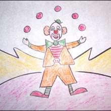 Como desenhar um palhaço malabarista