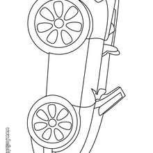 Desenho carro conversível para colorir